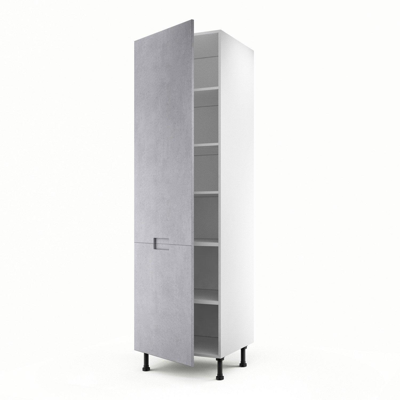 Meuble de cuisine colonne d cor b ton 1 porte berlin for Porte 60 x 120