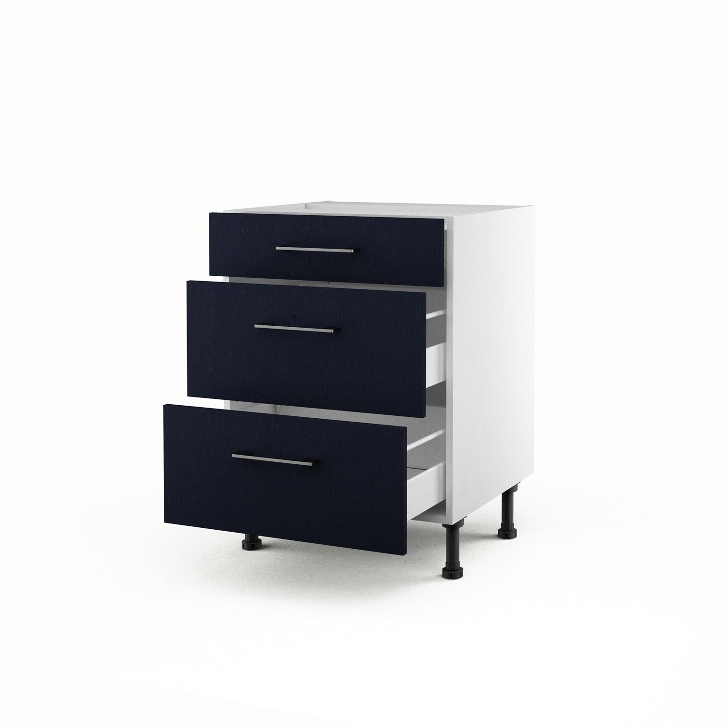 meuble de cuisine bas bleu 3 tiroirs topaze x x cm leroy merlin. Black Bedroom Furniture Sets. Home Design Ideas