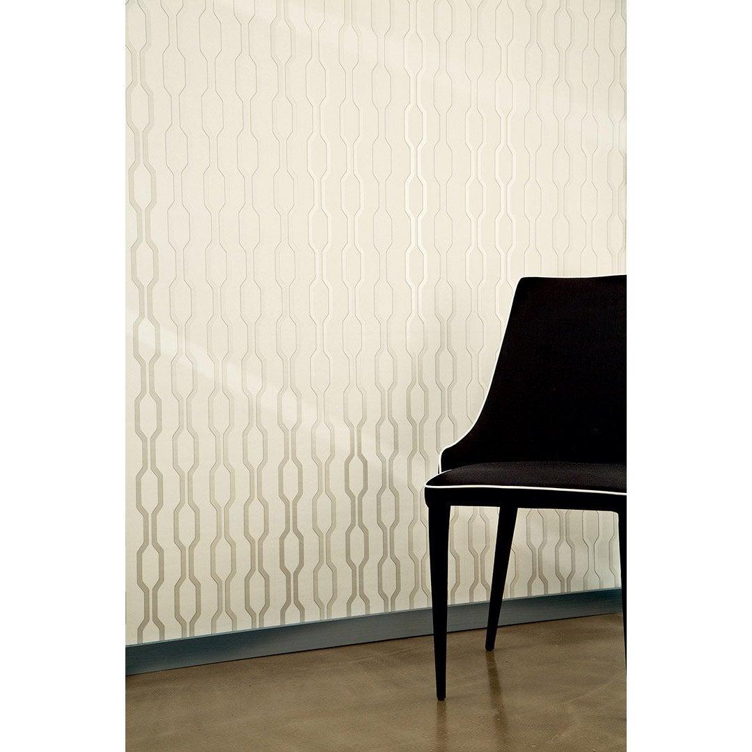 papier peint g om trique blanc gris moyen intiss ap 2000 leroy merlin. Black Bedroom Furniture Sets. Home Design Ideas