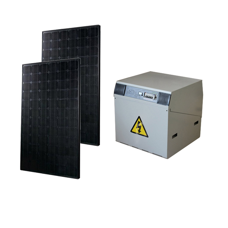 kit solaire complet power watt home 370w onduleur 1000w batterie 400ah leroy merlin. Black Bedroom Furniture Sets. Home Design Ideas
