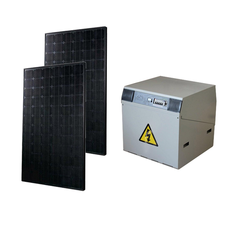 kit solaire complet power watt home 370w onduleur 600w batterie 400ah leroy merlin. Black Bedroom Furniture Sets. Home Design Ideas