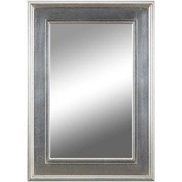 miroir tisbury rectangle argent 50x70 cm leroy merlin. Black Bedroom Furniture Sets. Home Design Ideas