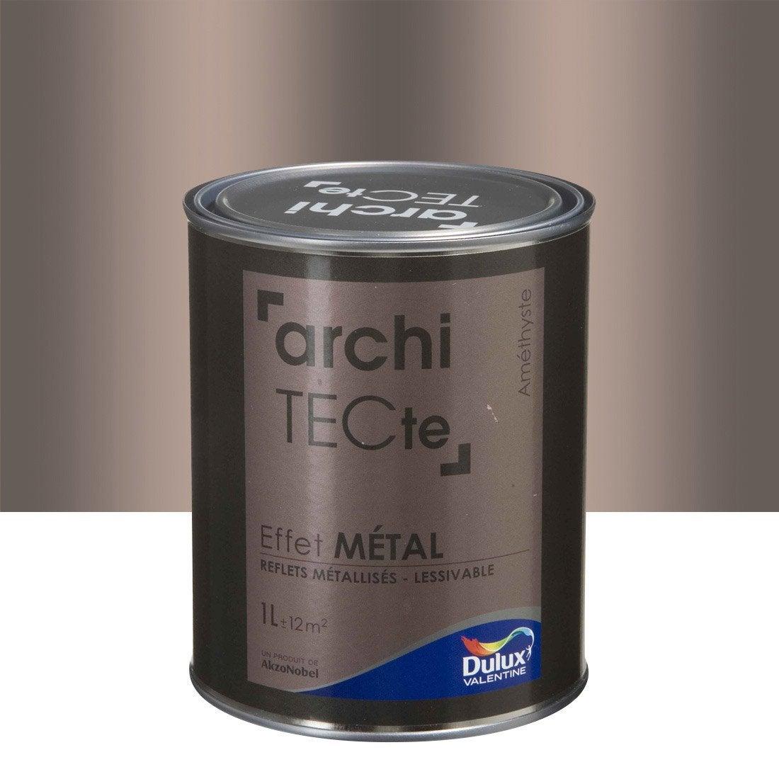 Peinture d corative effet m tal dulux valentine am thyste - Leroy merlin peinture effet metal ...