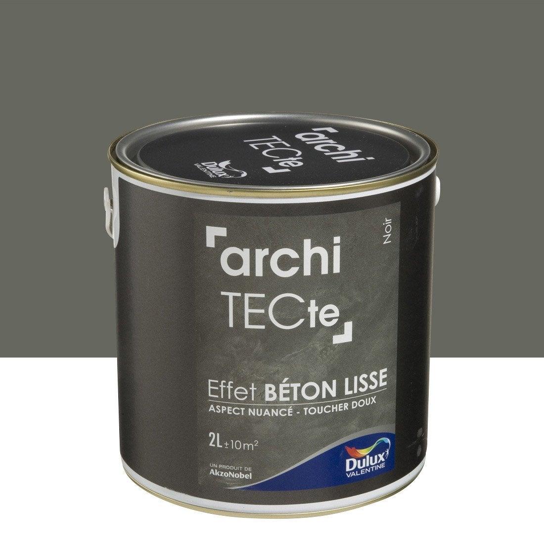 peinture effet architecte effet b ton dulux valentine noir 2 l leroy merlin. Black Bedroom Furniture Sets. Home Design Ideas