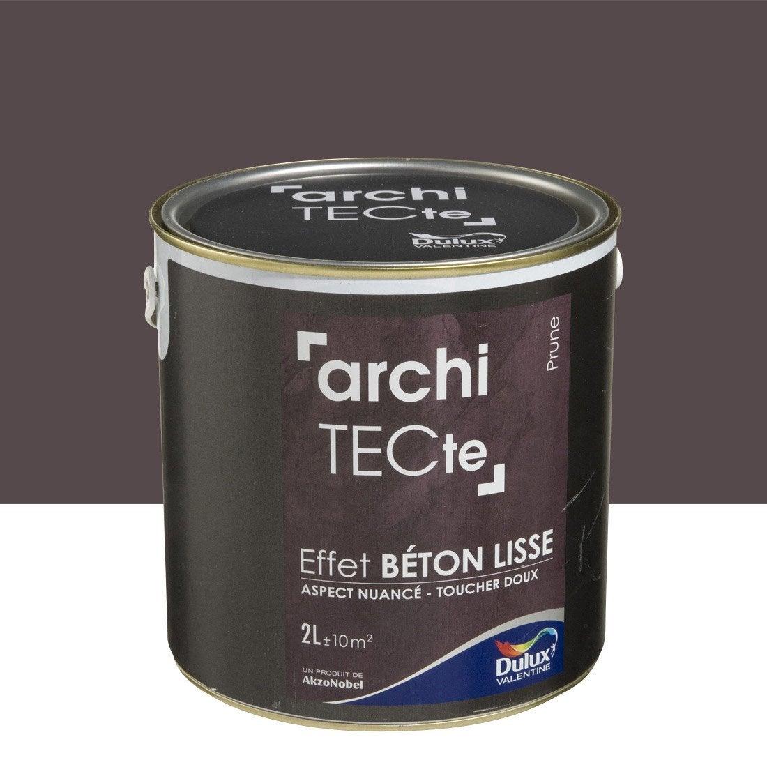 Peinture effet architecte effet b ton dulux valentine prune 2 l leroy - Peinture effet beton ...