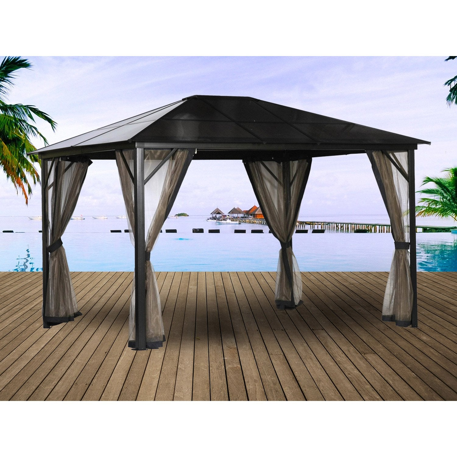 Table de jardin aluminium leroy merlin valdiz for Leroy merlin table jardin
