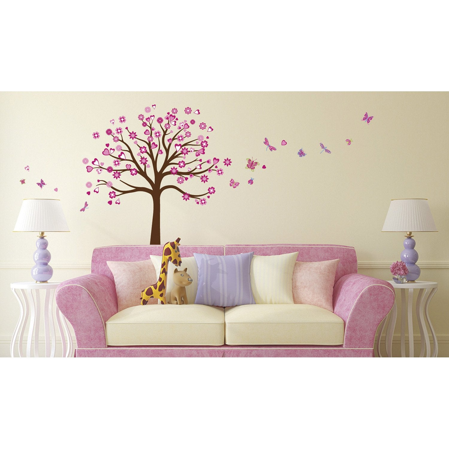 sticker arbre c ur 50 cm x 70 cm leroy merlin. Black Bedroom Furniture Sets. Home Design Ideas