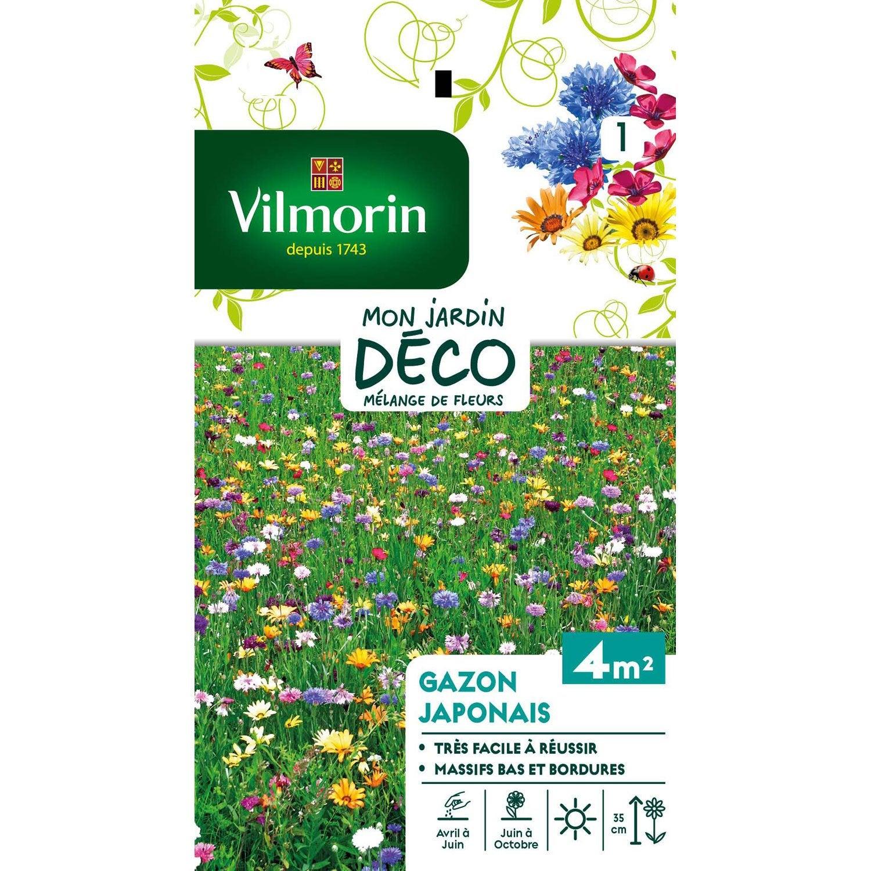 fleurs gazon japonais m lang multicolore leroy merlin. Black Bedroom Furniture Sets. Home Design Ideas