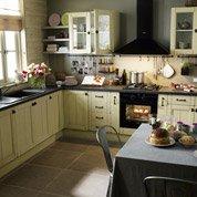 Meuble de cuisine beige DELINIA Tradition