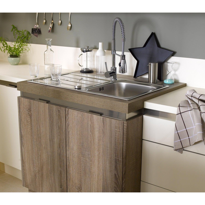Concept de r hausse de plan de travail pure aluminium for Credence cuisine aluminium brosse