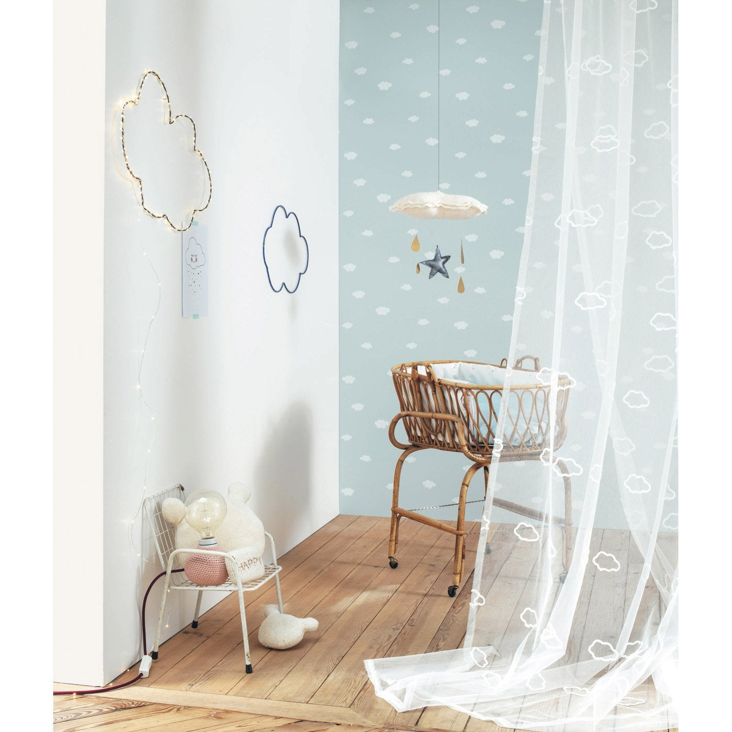 Papier peint nuages bleus intiss little world leroy merlin - Papier peint toilette leroy merlin ...