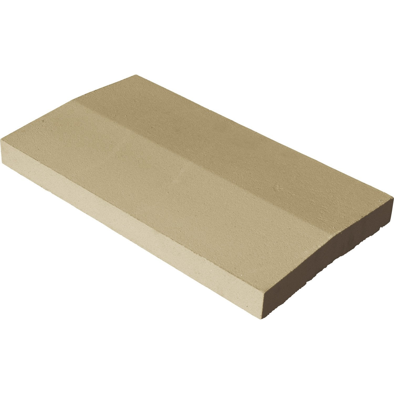 couvre mur 2 pans en pierre reconstitu e coloris ton