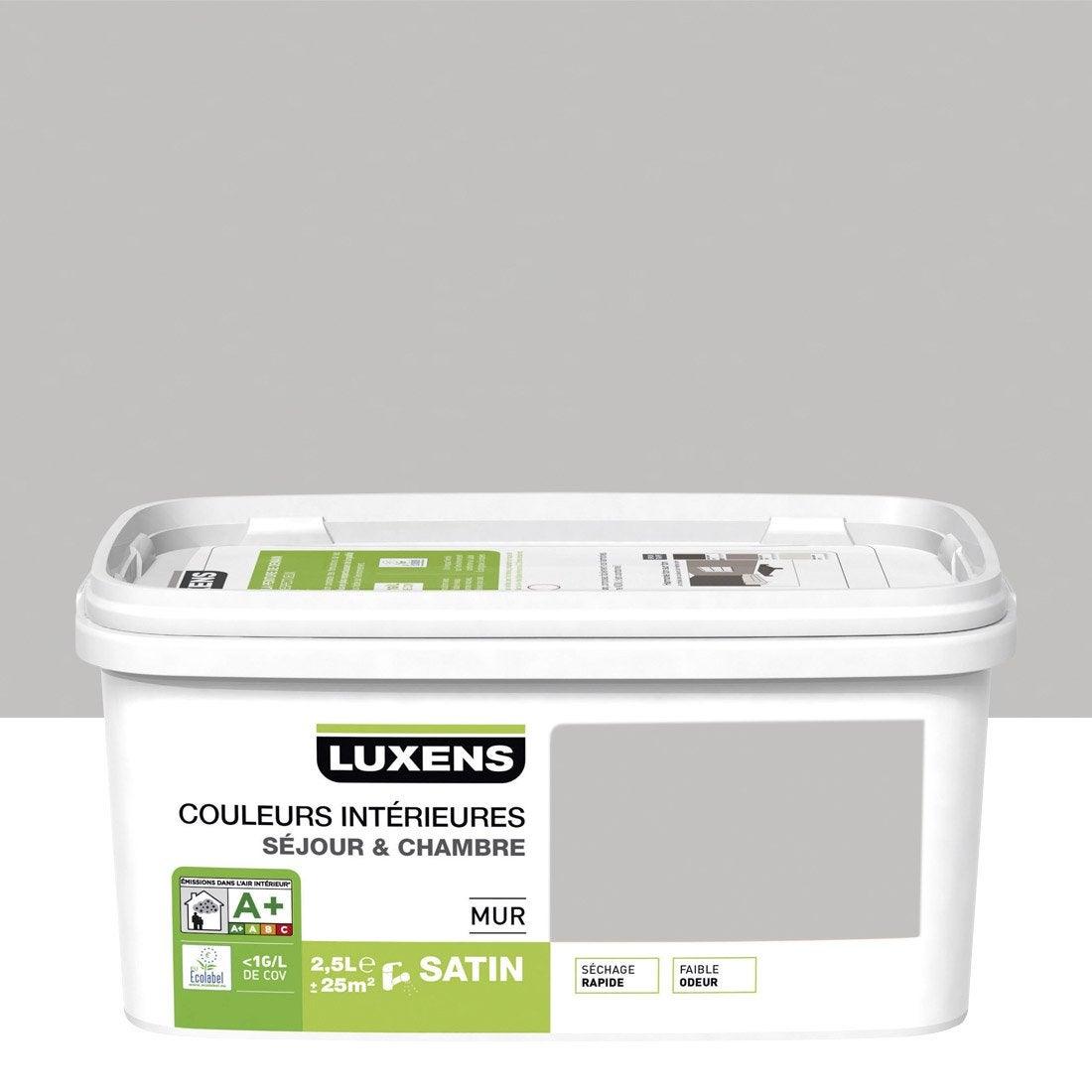 Peinture gris galet 5 luxens couleurs int rieures 2 5 l for Peinture couleur gris