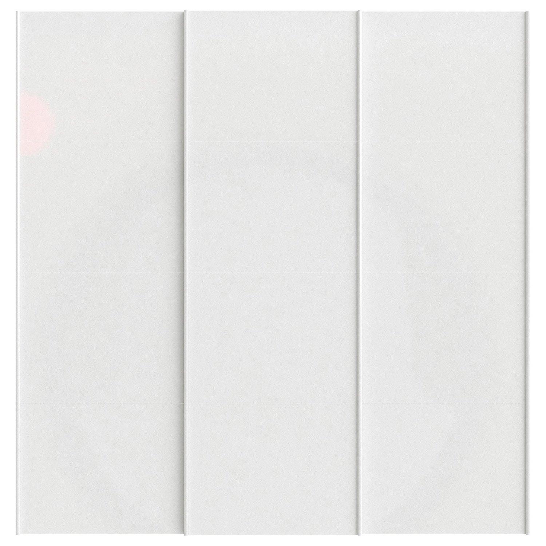 Lot de 3 portes coulissantes spaceo home 240 x 240 x 15 cm blanc brillant - Porte coulissante 240 ...