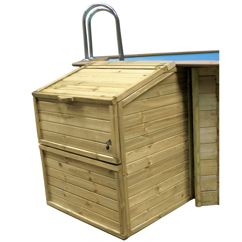 Coffre de filtration coffre de filtration en pin hauteur for Abri pompe piscine