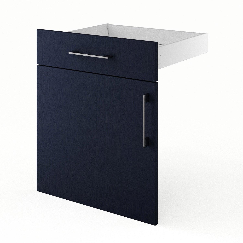 Porte tiroir de cuisine bleu fd60 topaze x x for Porte cuisine 60 x 30