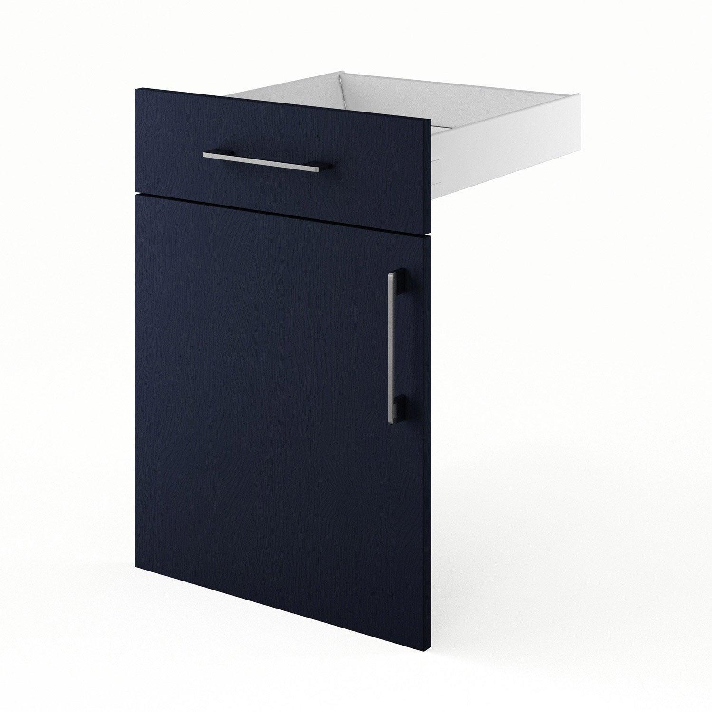 Porte et tiroir de cuisine bleu topaze x x for Porte 70 cm leroy merlin