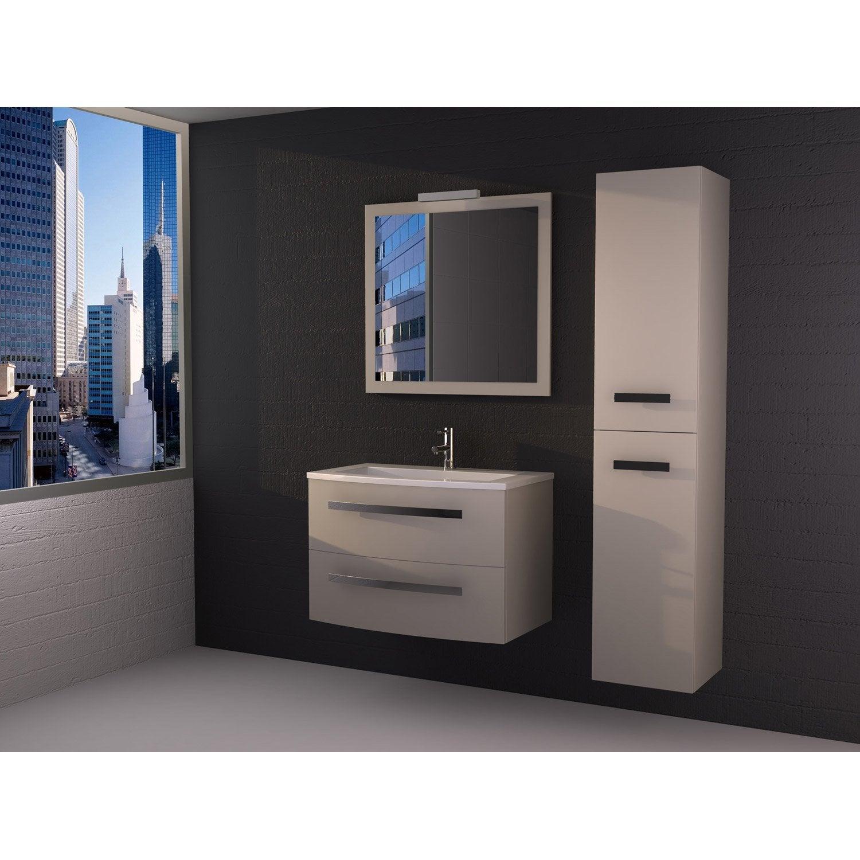meuble de salle de bains de 80 99 beige perla leroy merlin - Meuble Salle De Bain Beige