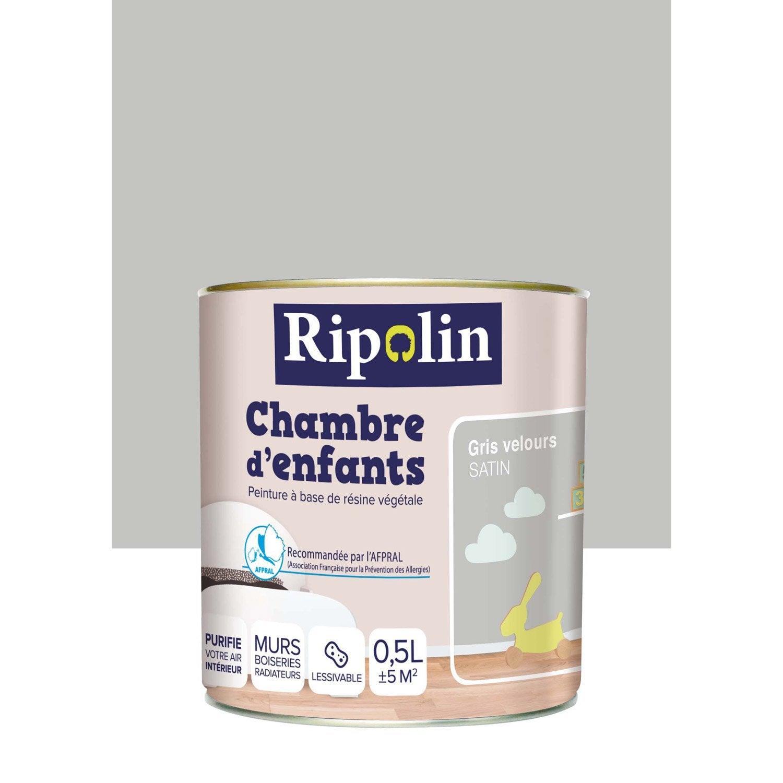 peinture gris souris ripolin chambre d 39 enfants 0 5 l. Black Bedroom Furniture Sets. Home Design Ideas