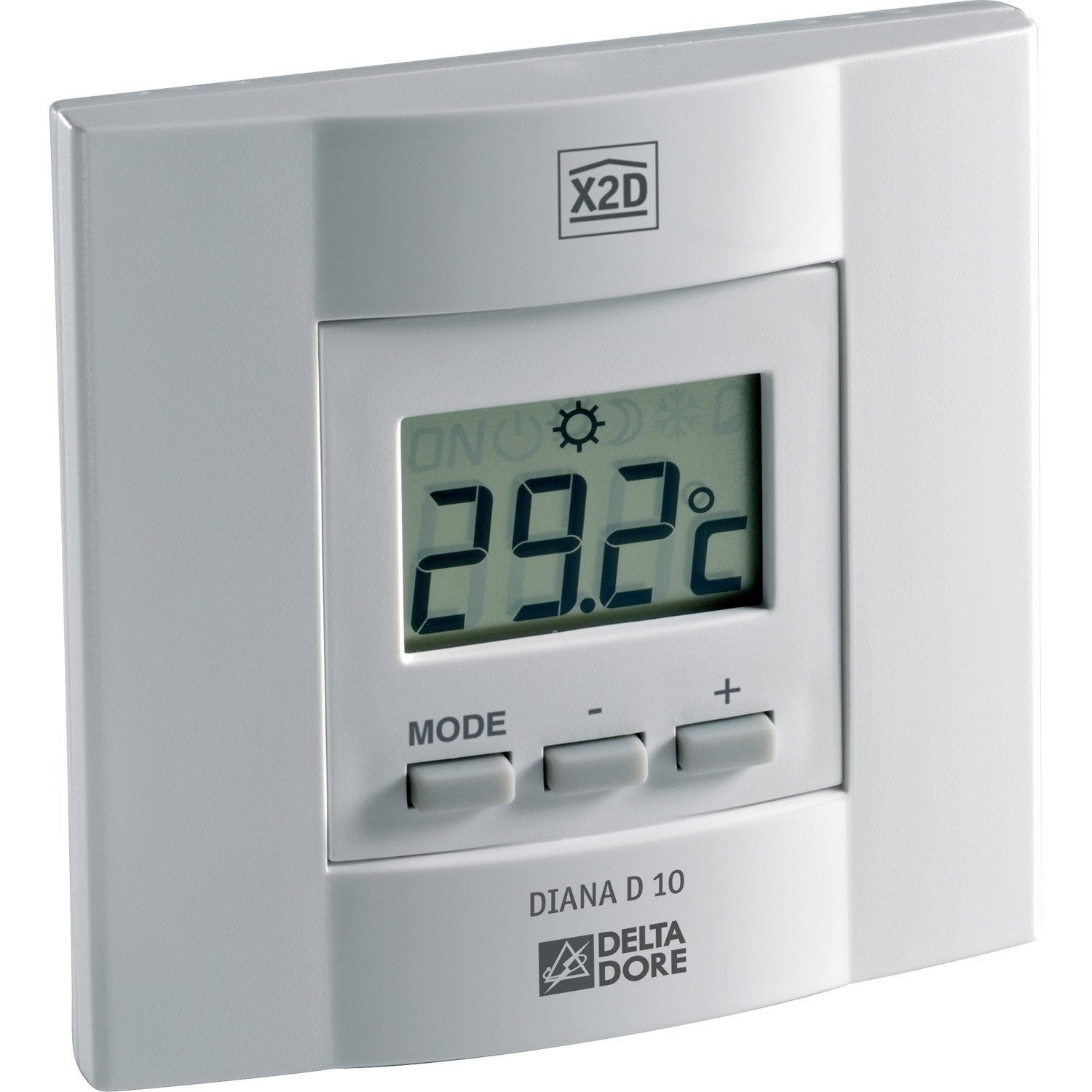 thermostat manuel filaire delta dore diana 10 leroy merlin. Black Bedroom Furniture Sets. Home Design Ideas