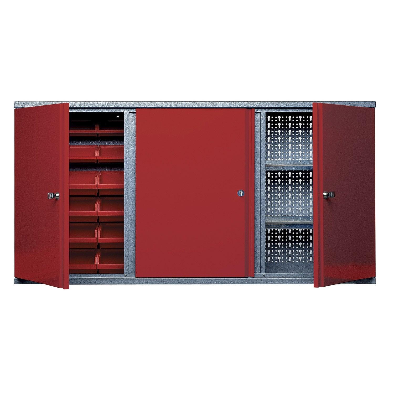 Armoire de rangement avec 18 bo tes becs en m tal rouge - Construire une armoire de rangement ...