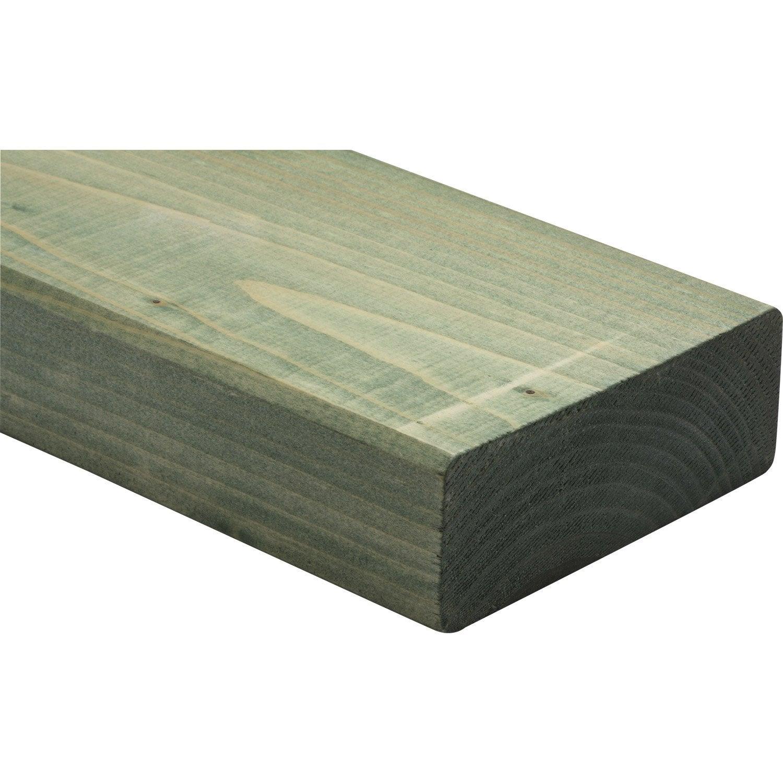 Lisse basse sapin pic a trait 45x145 mm 3 m chx2 for Bois de coffrage leroy merlin