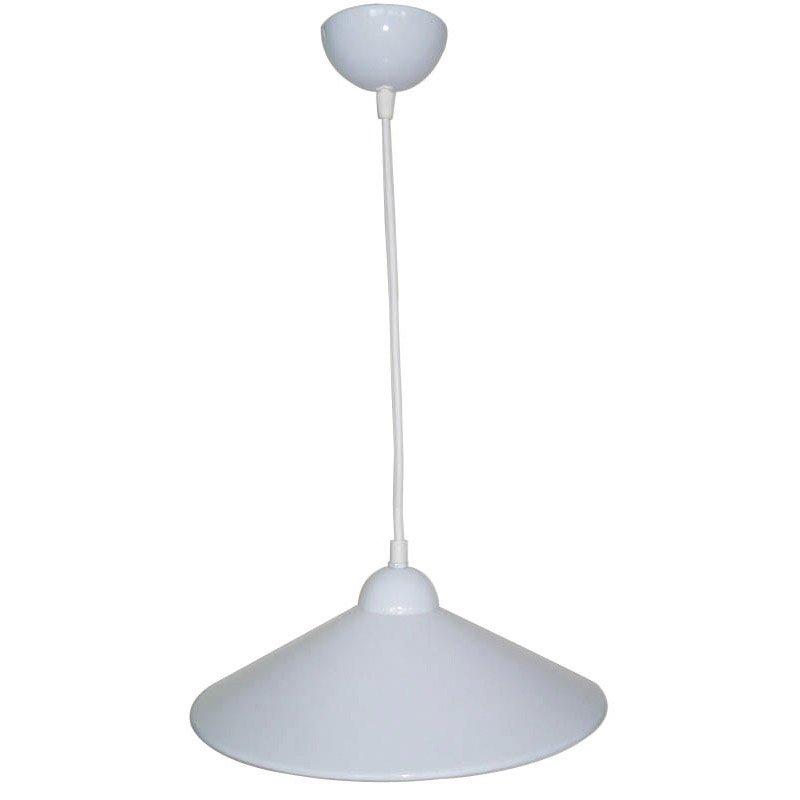Suspension design braga m tal blanc 1 x 60 w inspire leroy merlin - Suspension metal blanc ...
