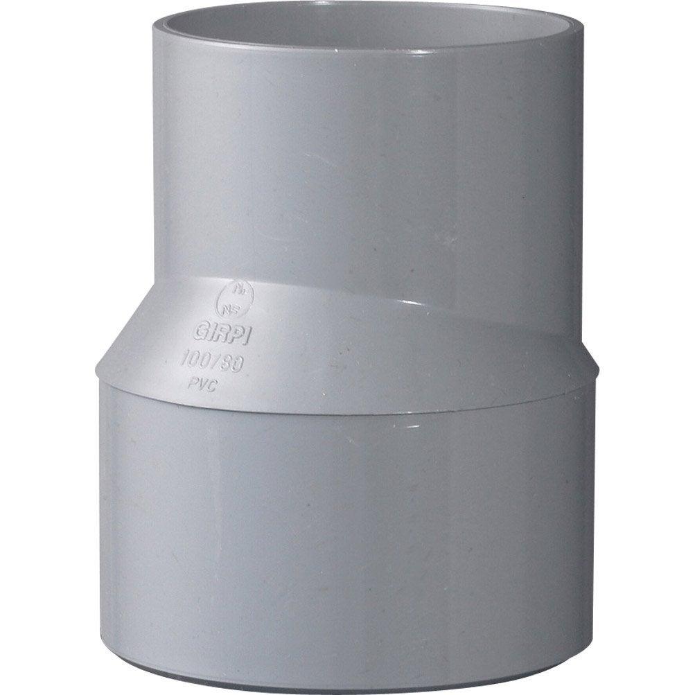 tampon de r duction pvc m le femelle 100 80 mm girpi leroy merlin. Black Bedroom Furniture Sets. Home Design Ideas