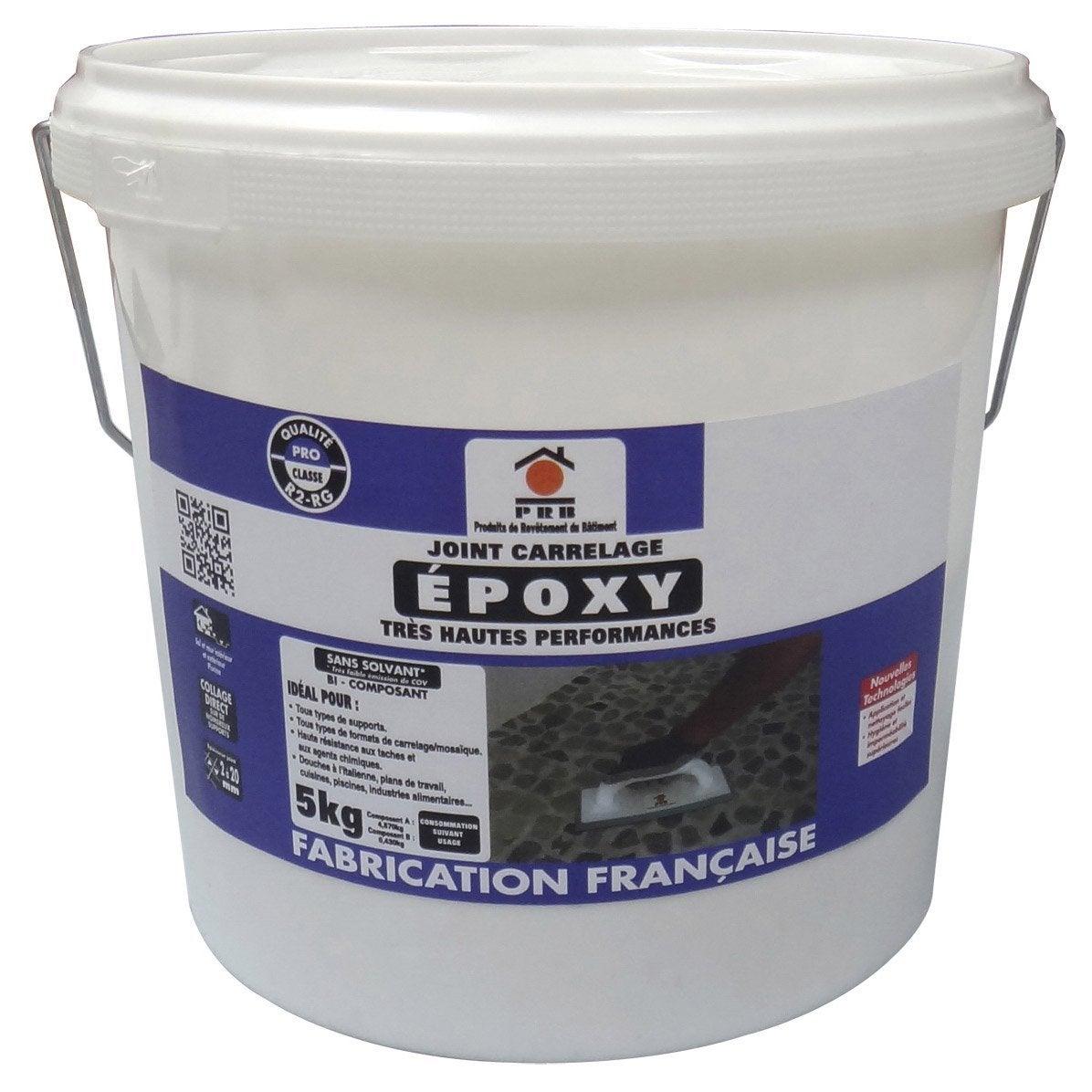 Joint poxy pour carrelage et mosa que prb blanc 5 kg leroy merlin - Resine epoxy pour joint carrelage ...