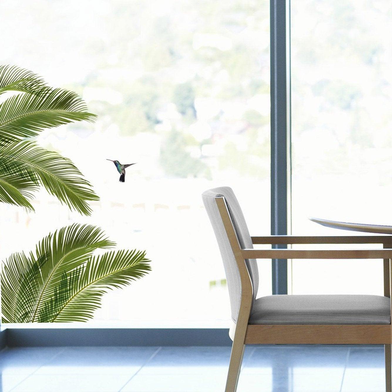 sticker palmes 49 x 69 cm leroy merlin. Black Bedroom Furniture Sets. Home Design Ideas