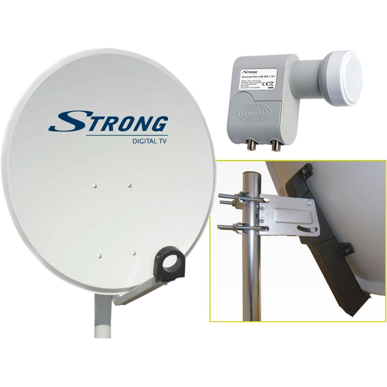 antenne satellite parabolique acier 80 cm strong leroy merlin. Black Bedroom Furniture Sets. Home Design Ideas