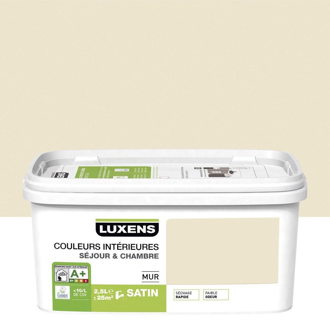 Peinture blanc ivoire 6 luxens couleurs int rieures 2 5 l leroy merlin - Peinture luxens leroy merlin ...