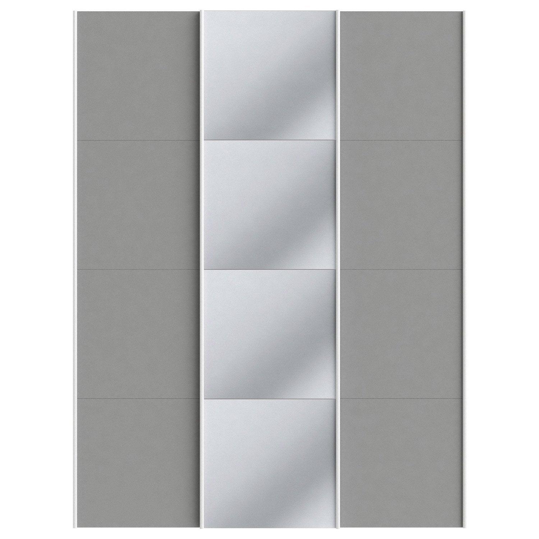 Lot de 3 portes coulissantes spaceo home 240 x 180 x 15 cm for Ecksofa 240 x 180
