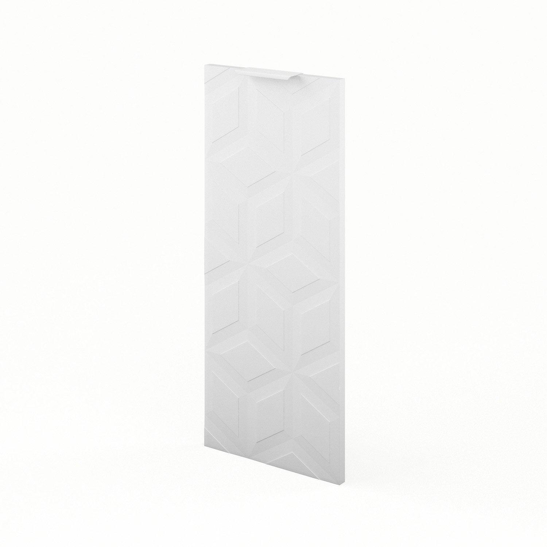 Porte de cuisine blanc f30 origami l30 x h70 cm leroy for Porte de cuisine leroy merlin