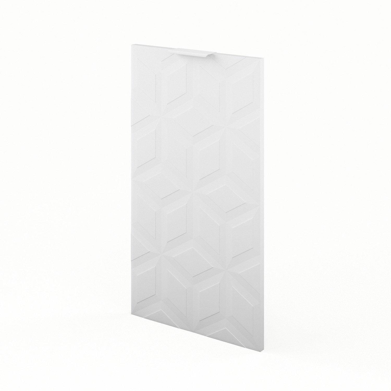 Porte de cuisine blanc origami x cm leroy merlin for Porte 70 cm de large