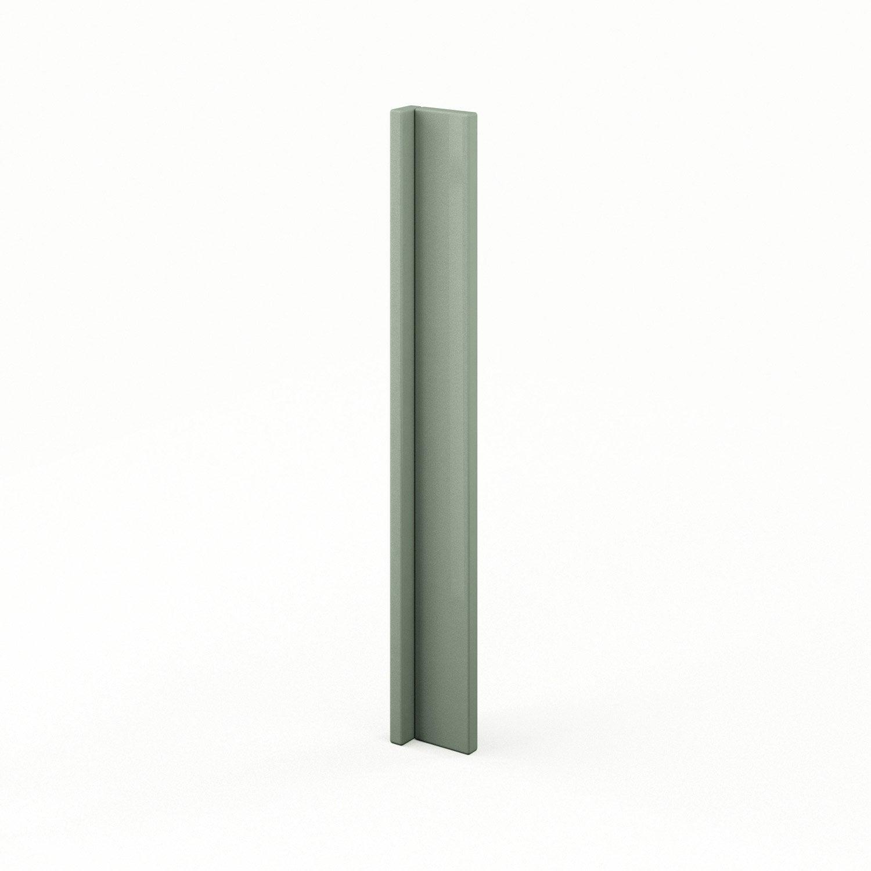 finition d 39 angle de cuisine vert abang milano l15 x h70 cm leroy merlin. Black Bedroom Furniture Sets. Home Design Ideas