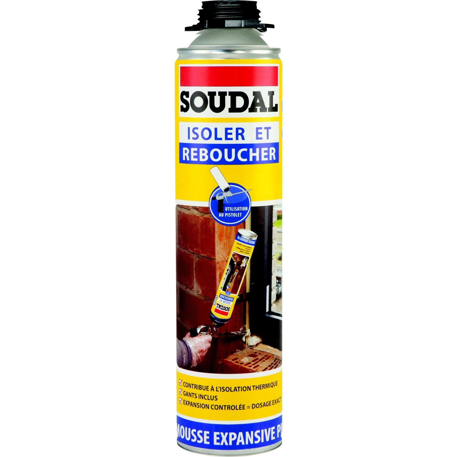 Mousse expansive soudal pistolable isoler reboucher 500ml leroy merlin - Mousse acoustique leroy merlin ...