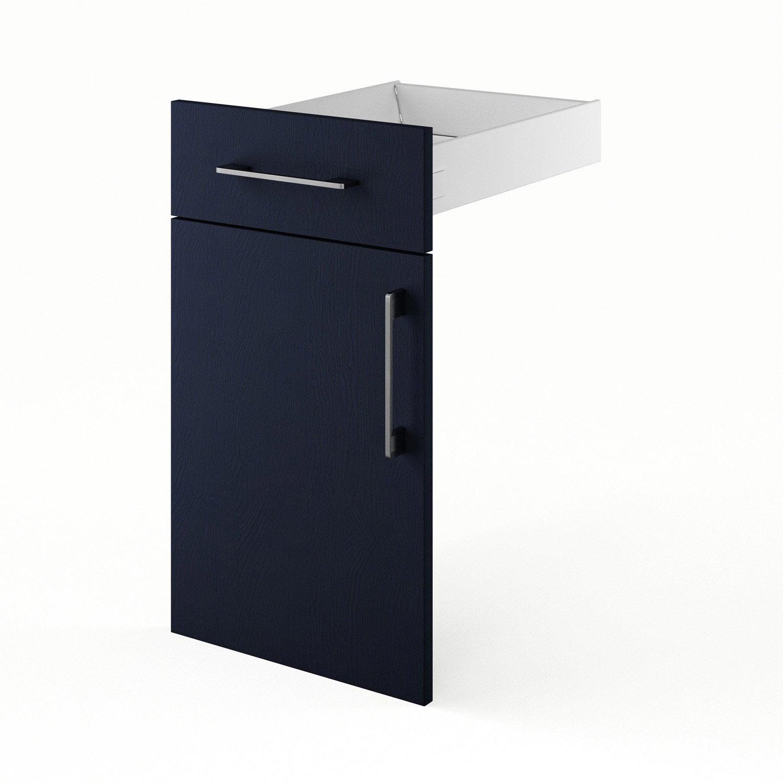 Porte et tiroir de cuisine bleu topaze x x for Porte 70 cm de large
