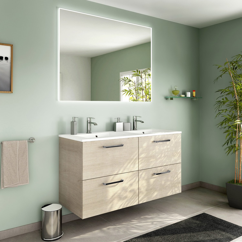 Meuble de salle de bains plus de 120 marron neo line leroy merlin - Collection neo leroy merlin ...