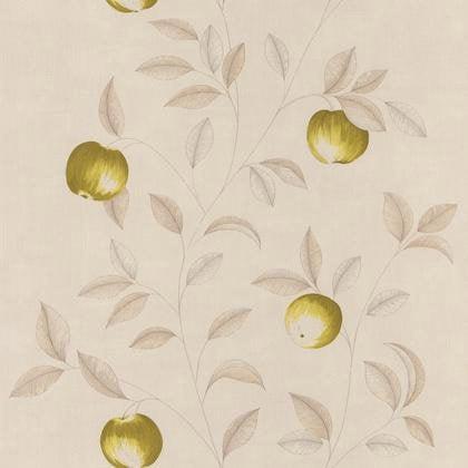 Papier peint guirlande pommes vert intiss bon app tit - Bon de reduction leroy merlin ...