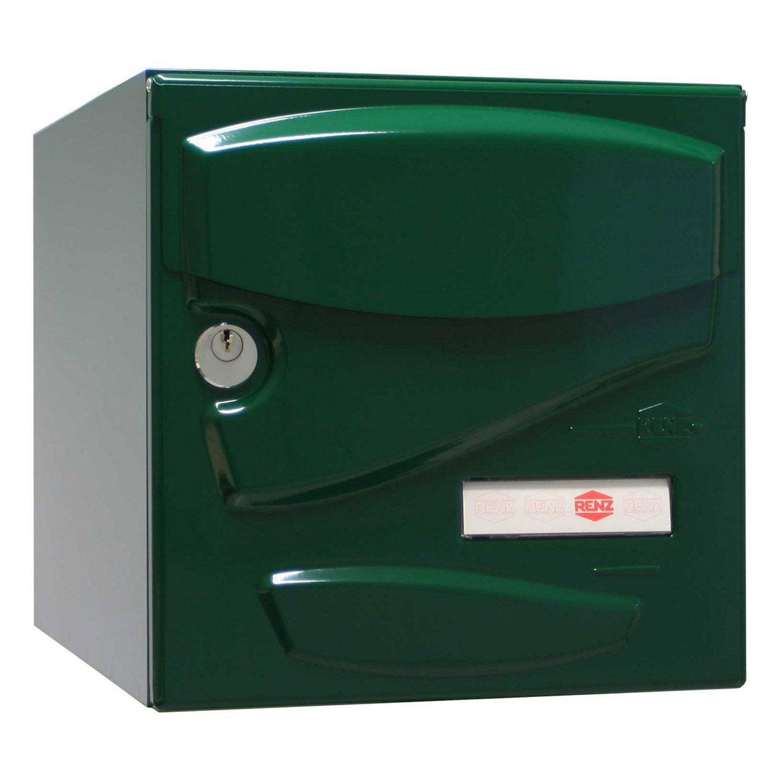 Bo te aux lettres renz tendance normalis e vert en acier - Boite aux lettres renz ...