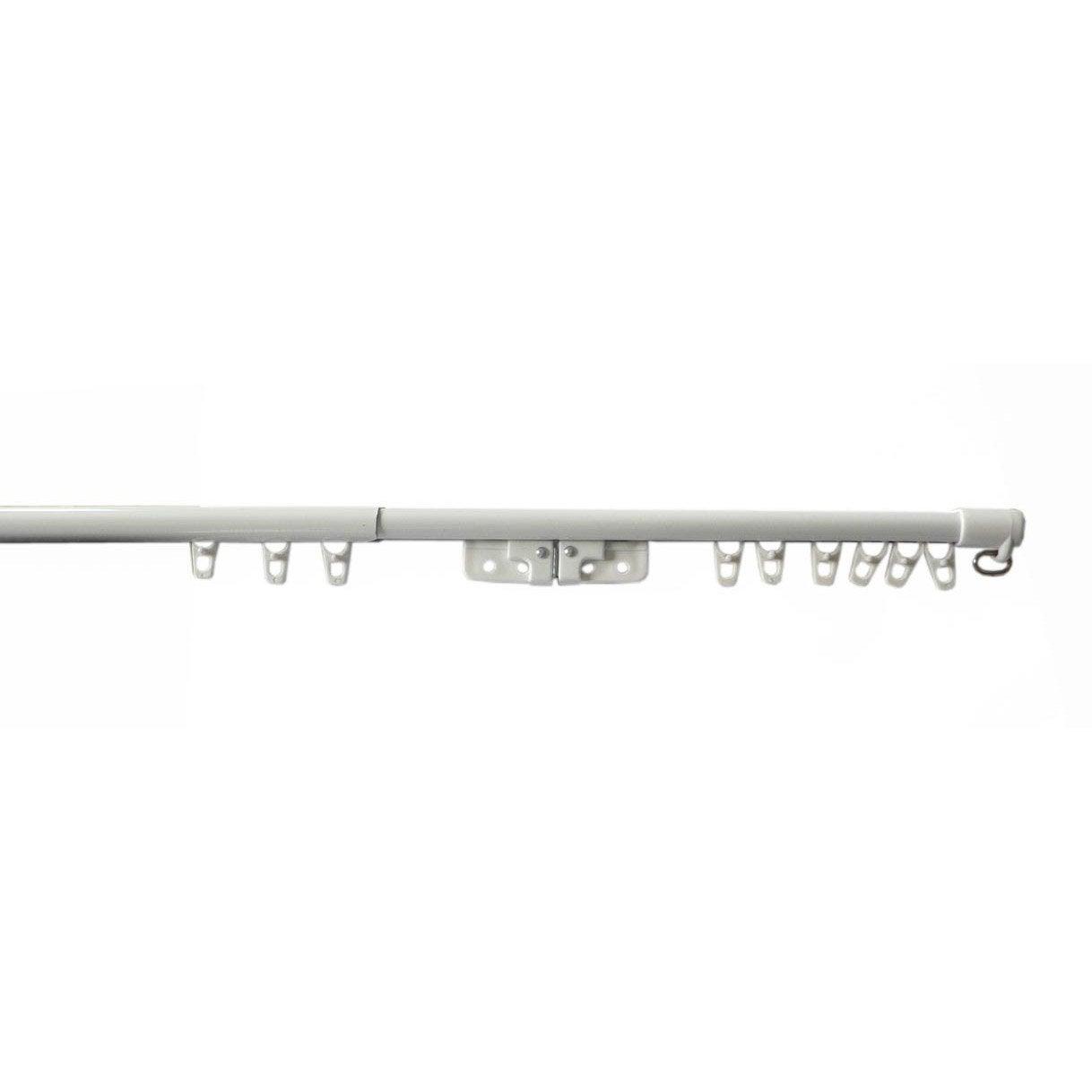 rail extensible acier exten rail blanc laqu 233 l 110 200 cm ouverture centrale leroy merlin