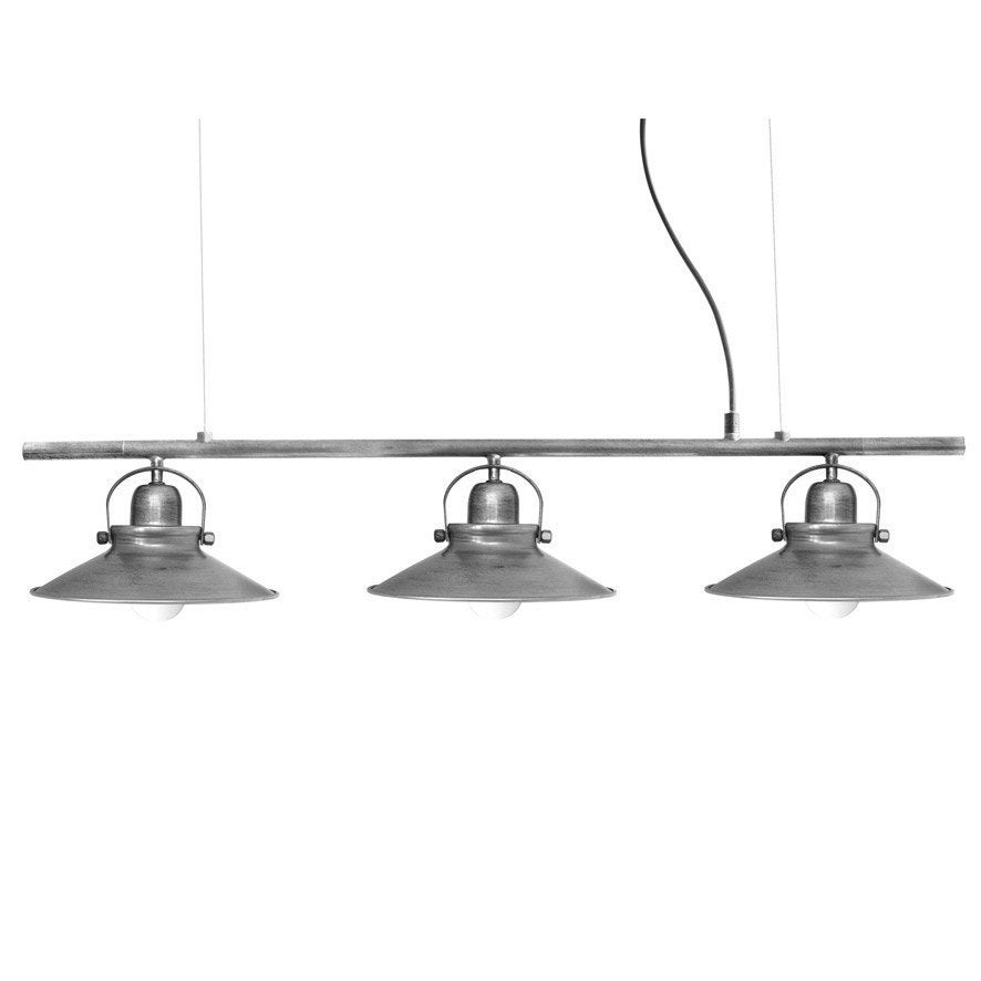 Suspension industriel mirano m tal gris 3 x 40 w seynave - Abat jour suspension leroy merlin ...