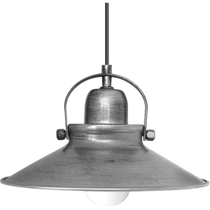 Suspension e27 style industriel mirano m tal gris 1 x 40 w seynave leroy m - Suspension new york leroy merlin ...