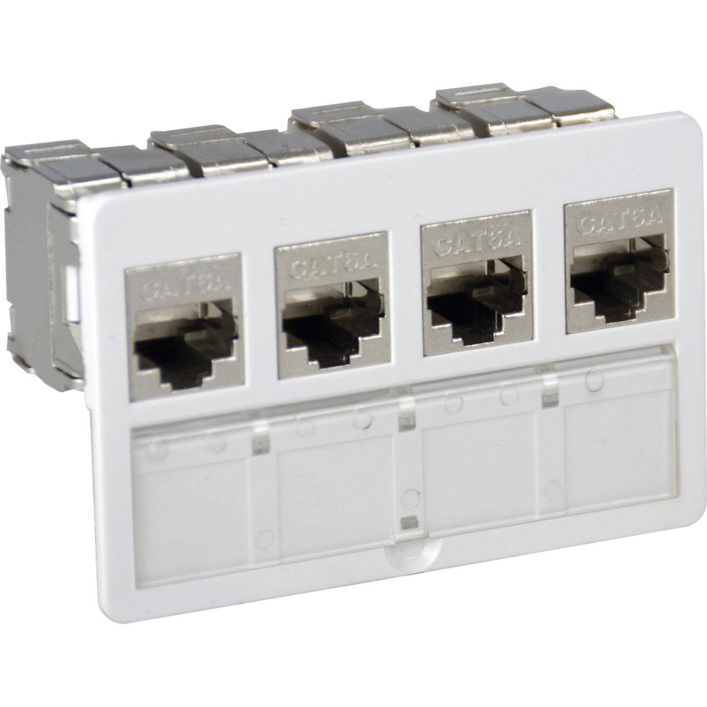 Kit connecteurs 4 entr es sorties rj45 cat 6 lexman - Kit renovation escalier leroy merlin ...