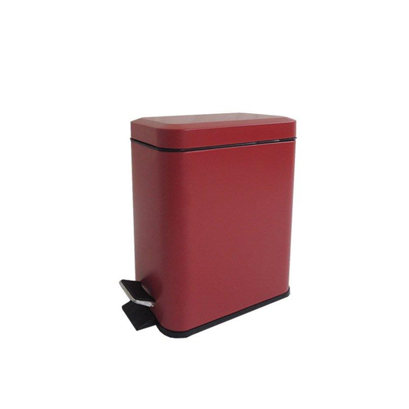 Poubelle de salle de bains 5 l rouge rouge n 3 sensea slim for Poubelle salle de bain leroy merlin