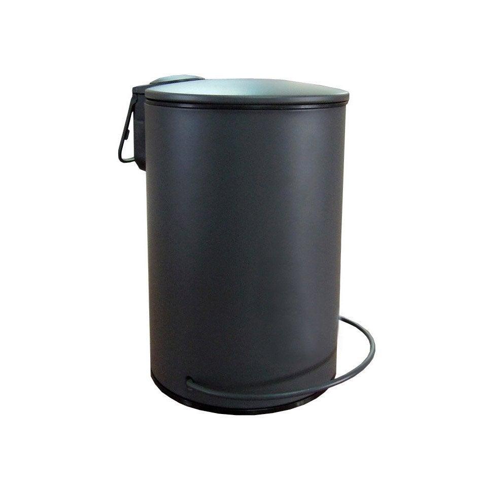 Poubelle de salle de bains 3 l gris zingu 1 sensea ic ne for Poubelle salle de bain leroy merlin
