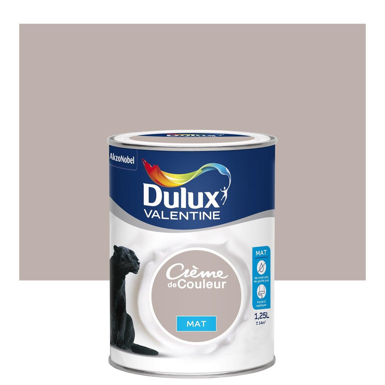 Peinture marron glac dulux valentine cr me de couleur mat l leroy merlin - Peinture marron glace dulux valentine ...