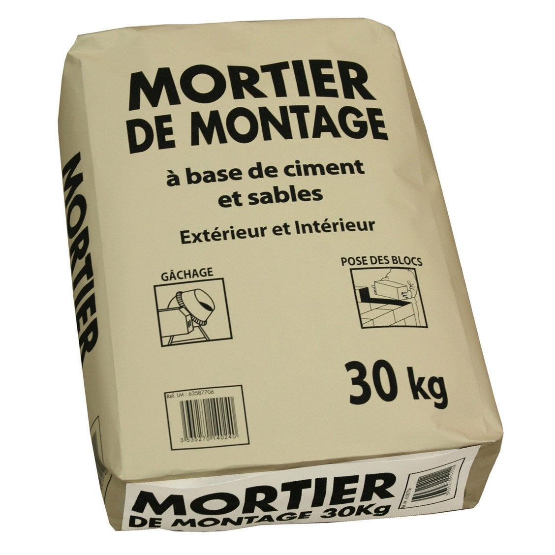 Mortier 30 kg leroy merlin for Mortier pour brique de verre