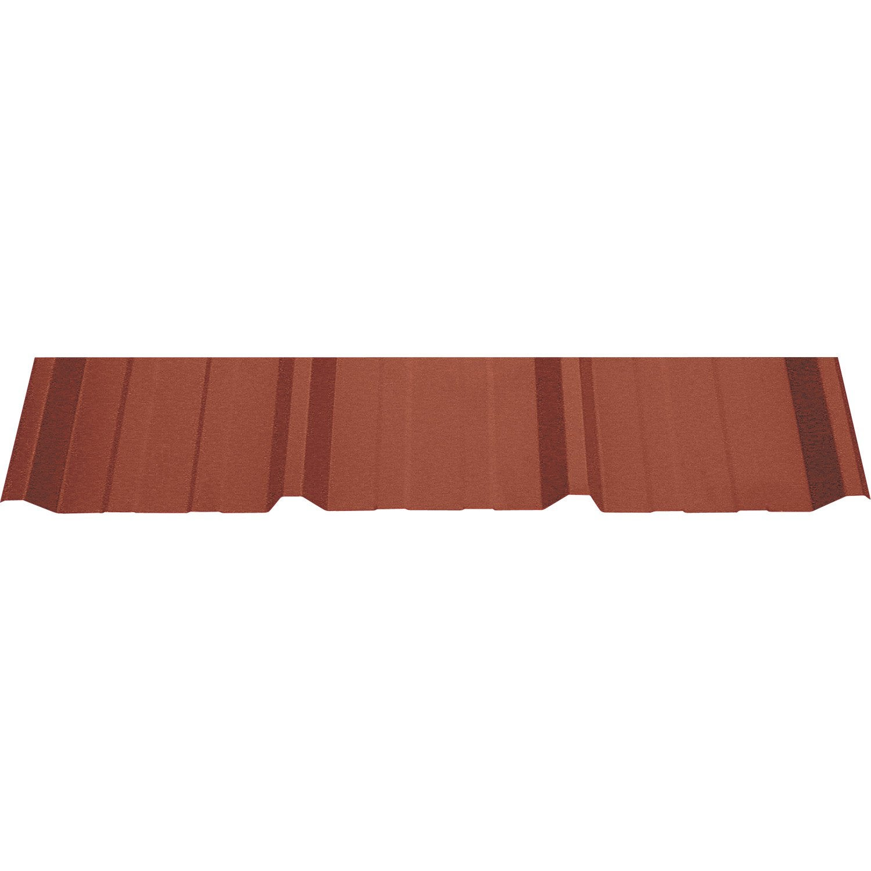 plaque sur mesure nervur acier galvanis rouge l x l 1 m leroy merlin. Black Bedroom Furniture Sets. Home Design Ideas